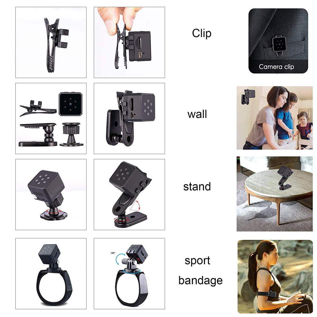 Thumb-Size Wireless Mini 1080P Night Vision Security Camera With 140°  Wide-Angle Lens