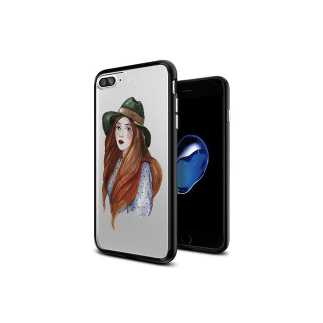 iPhone Case - Green Hat Lady - GadgetiCloud