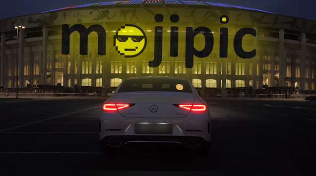 Mojipic first voice-controlled led car tailgate emojis and gifs display