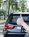 Mojipic led car rear window display better communication with other drivers without distraction