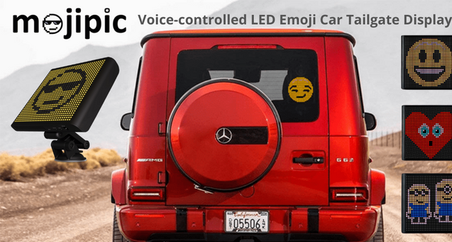 Mojipic led emojis display telling others your instant emotions with over 1500 emojis and gifs