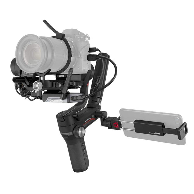 ZHIYUN Weebill-S Compact 3-Axis Handheld Gimbal Stabilizer for Mirrorless and DSLR Cameras & Lens Combos with mobile phone