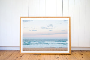 AQUA PINK SUNSET BEACH PHOTO PRINT - Ivy And The Fox