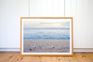 THOSE MORNING OCEAN BLUES BEACH PHOTO PRINT - Ivy And The Fox