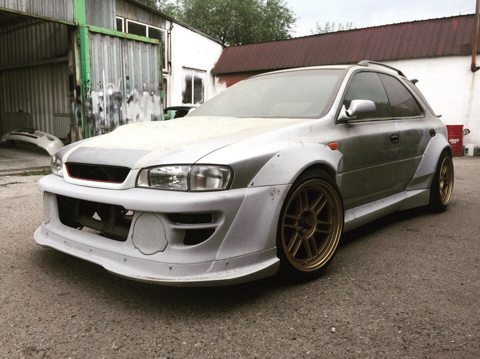 Full wide body kit Rocket Bunny Subaru Impreza WRX STI GC GF 1994-2000
