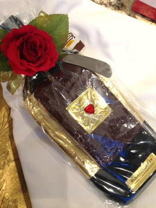 Chocolate Silk Wine Bottle Tray w/ slab (1 flavor)