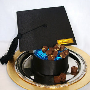 42 PC (bites) Silk Grad Cap Black (2 flavors)