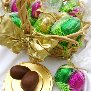 Chocolate Silk Foil Eggs - 2 pieces