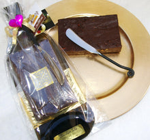 Chocolate Silk Wine Bottle Tray w/ slab