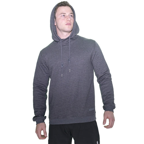 Textured Sport Fit Hoodie - Charcoal Grey
