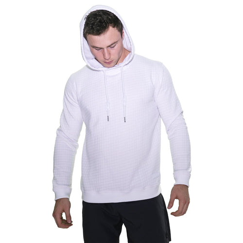 Textured Sport Fit Hoodie - White