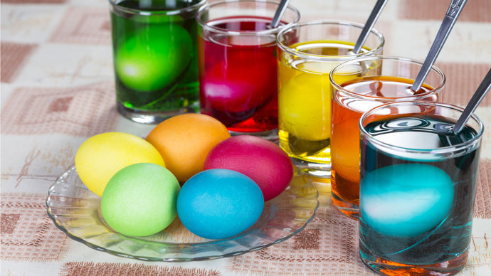 Making Shaving Cream Tie Dye Eggs with Your Kids