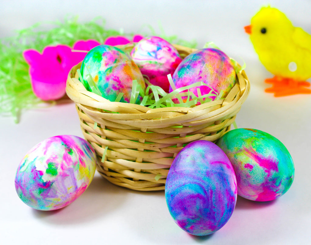 Tie Dye Eggs - Food Color Kids Projects