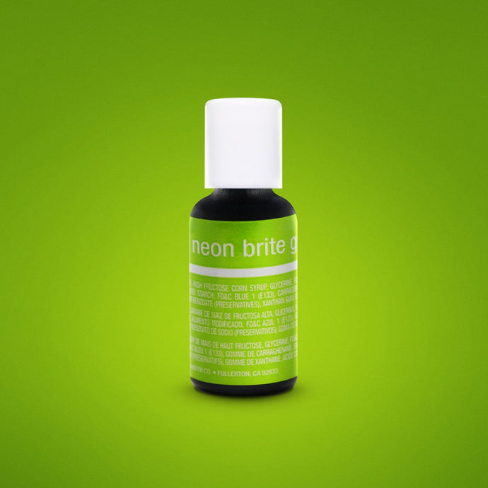 Neon Brite Green Liqua-Gel Food Coloring 20ml