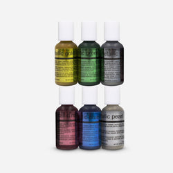 Airbrush Metallic 6 Colors Kit 20 ml