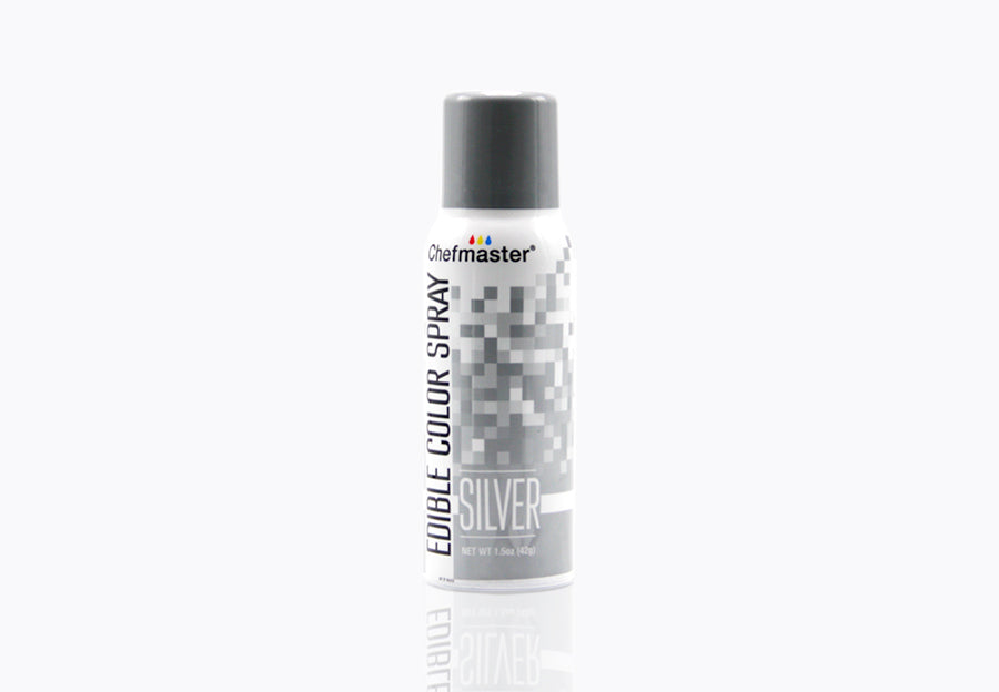 Edible Metallic Silver Spray Paint 1.5oz
