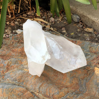 Large Clear Quartz Tri-Tip Point - 6.5""