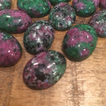 Ruby in Zoisite Cabochons
