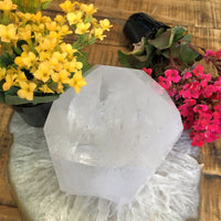 "5"" Clear Quartz Cut Base Point"