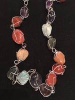 Chakra Stone Wire Wrapped Necklace