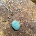 Blue Aragonite Drop Necklace