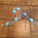Larimar and Sterling Silver Bracelet