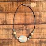 Aqua Jasper and Green Aventurine Necklace