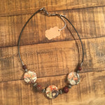 Rainforest Jasper 3 Circle Stone Necklace