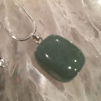Green Aventurine Tumbled Stone Necklace