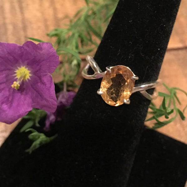 Citrine and Sterling Silver Ring