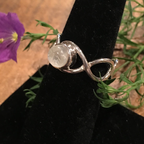 Moonstone Braided Band Ring