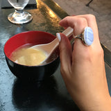 Oval Blue Lace Agate Ring