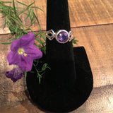 Amethyst Faceted Stone Ring