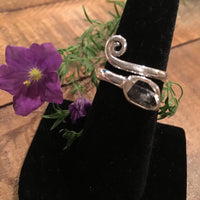 Herkimer Diamond Adjustable Ring