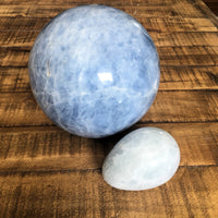 135mm Blue Calcite Sphere