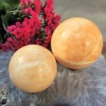 Orange Calcite Sphere (60mm - 65mm)