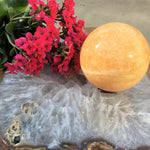 Orange Calcite Sphere (75mm - 80mm)
