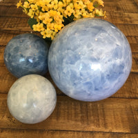 122mm Blue Calcite Sphere
