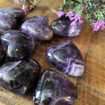 "Chevron Amethyst Heart (1"" - 1.25"")"