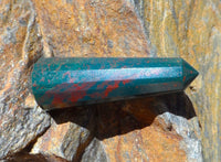 Bloodstone 16 Sided Double Terminated 2""