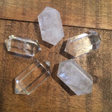 "Clear Quartz Chubby Double Terminated- .75"" - 1"""