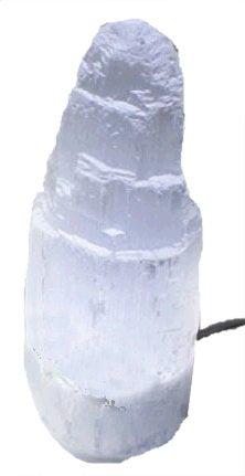 "14"" Selenite Tower Lamp"