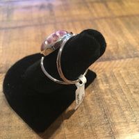 Large Stone Lepidolite Ring