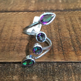 Mystic Topaz Adjustable Ring