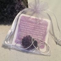 Silver Plated Amethyst Nugget Necklace