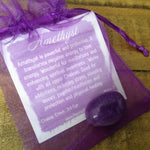 Amethyst Tumbled Stone in bag with description card