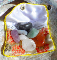 7 Chakra Stone Set in Zipper Pouch