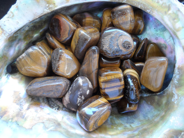 Golden Tiger Eye Tumbled Stone