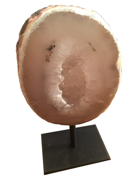 Brazilian Agate End on Metal Base