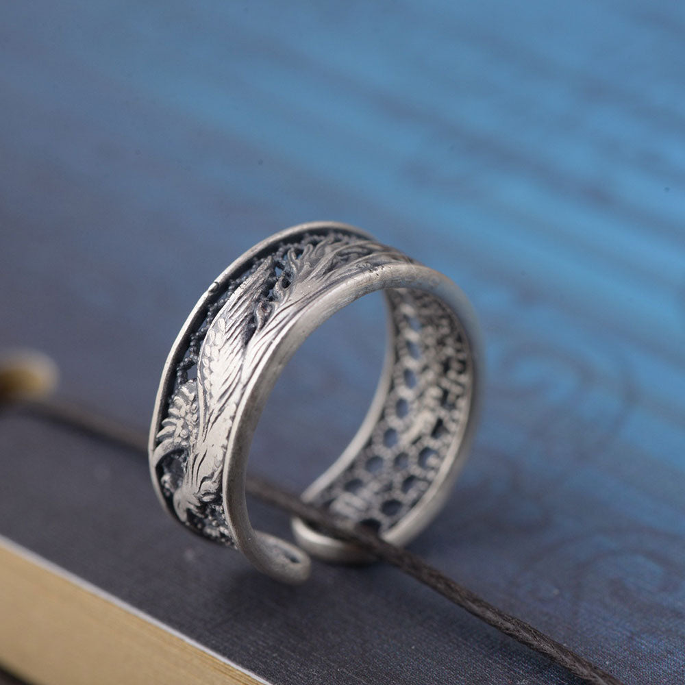 bird titanium item ring gift phoenix on steel in jewelry men rings women fashion and accessories from s